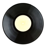 Black vinyl record Royalty Free Stock Photos