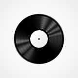 Black vinyl record isolated on white background. Realistic vector illustration Stock Photo