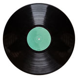 Black vinyl record isolated on white background Royalty Free Stock Images