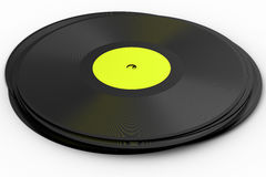 Black vinyl record lp album disc Stock Photography