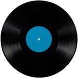 Black vinyl record lp album disc isolated disk Royalty Free Stock Photography