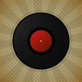 Black vinyl record Stock Photography