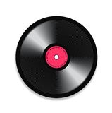 Black vinyl record. Vector illustration for your design Royalty Free Stock Image