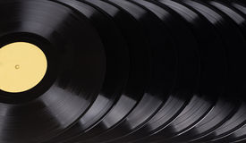 Black vinyl records Stock Image