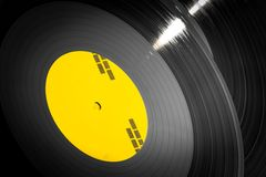 Black vinyl records stacked up Royalty Free Stock Photos