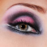 Black-violet make-up of eyes Stock Images