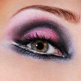 Black-violet make-up of eyes stock images