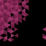 Black and violet triangle vector background Stock Photo