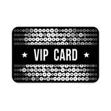 Black VIP card with glitter pattern,  illustration Stock Photo