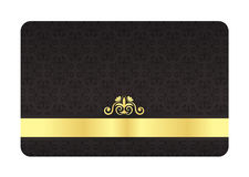 Black VIP Card with Vintage Pattern and Golden Lab Royalty Free Stock Photo