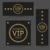 Black VIP cards Royalty Free Stock Photos