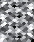 black vita scales för fisklamodellen stock illustrationer