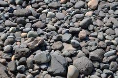 Black volcan stones Stock Images