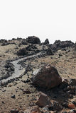 Black Volcanic Lava Rock Royalty Free Stock Photos