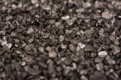 Black Volcanic Salt Stock Image