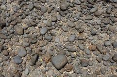Black volcanic stones Stock Photo