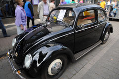 Black Volkswagen Beetle Stock Photography