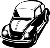 Black volkswagen bug Stock Photography