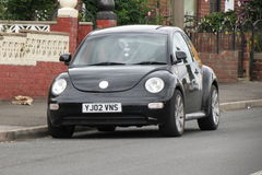 Black Volkswagen New Beetle car Stock Photo
