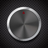 Black Volume Button Knob, Vector Illustration. Stock Photo