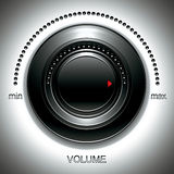 Black volume knob. Stock Image