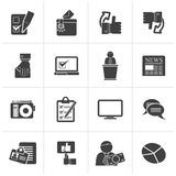 Black Voting and elections icons. Vector icon set Stock Images