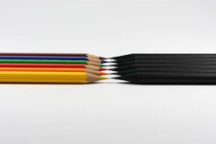 Black vs Colour Stock Photography