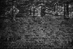 Black wall, brick texture, dark background Stock Images