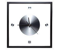 Black wall clock Royalty Free Stock Image