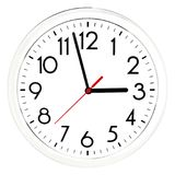 Black wall clock. Isolated on white background. High quality photo Royalty Free Stock Photos
