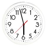 Black wall clock. Isolated on white background. High quality photo Stock Image