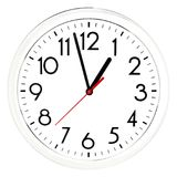 Black wall clock. Isolated on white background. High quality photo Stock Photo