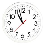 Black wall clock. Isolated on white background. High quality photo Stock Images