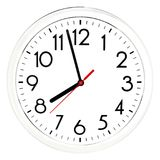 Black wall clock. Isolated on white background. High quality photo Stock Photos