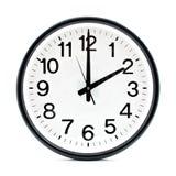 Black wall clock Royalty Free Stock Image