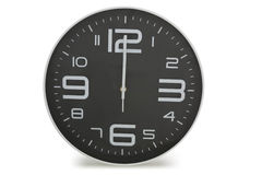 Black wall clock Stock Photo