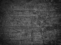 Black wall of concrete, dark background of cement surface Stock Images