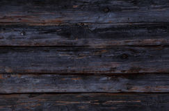 Black wall. Made of boards Royalty Free Stock Image