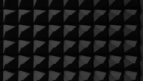 Black wall of triangles in music studio. This material is used for soundproofing. Abstract background stock illustration