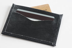 Black wallet. Royalty Free Stock Photo