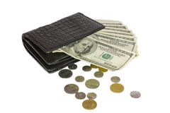 Black wallet Stock Photo