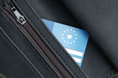 Black wallet Royalty Free Stock Photos