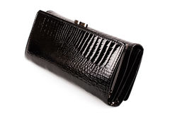Black wallet Royalty Free Stock Images
