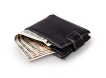 Black wallet Royalty Free Stock Photography