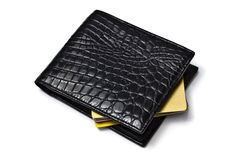 Black wallet with Credit cards Stock Image