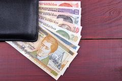 Black wallet with Honduran money Royalty Free Stock Image