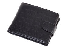 Black wallet. Isolated on white background Royalty Free Stock Images