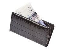 Black wallet with money Stock Photo