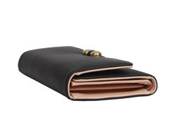Black wallet money on white background Royalty Free Stock Photography