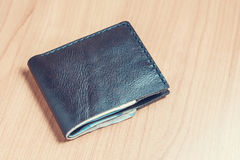 Black wallet with money. Royalty Free Stock Image